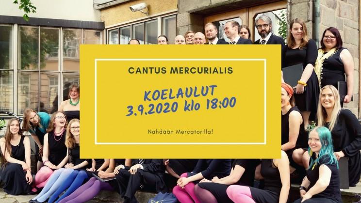 Cantus Mercurialis-kuoron koelaulut ovat avoimien treenien yhteydessä 3.9.2020